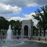 Memoriale di WWII in Washington DC Immagine Stock Libera da Diritti