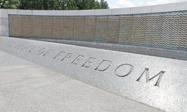 Memoriale dorato della seconda guerra mondiale delle stelle Immagine Stock