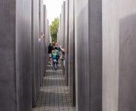 Memoriale ebreo di olocausto a Berlino Immagini Stock Libere da Diritti