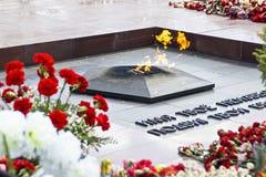 Memoriale eterno della fiamma Fotografia Stock Libera da Diritti