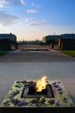 Memoriale eterno della fiamma al campo di Marte in Russia Fotografie Stock Libere da Diritti