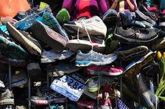 Memoriale maratona del bombardamento di Boston Fotografia Stock Libera da Diritti