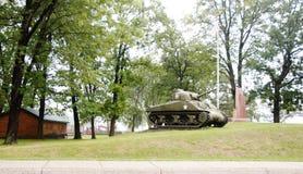 Memoriale militare della seconda guerra mondiale dello stato del Michigan fotografia stock libera da diritti