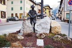 Memoriale in montagne di Dolomiti, Belluno, Italia Fotografia Stock