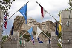 Memoriale nazionale del rushmore del supporto fotografia stock libera da diritti