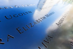 Memoriale nazionale in Lower Manhattan, New York dell'11 settembre Fotografia Stock