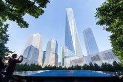 Memoriale nazionale in Lower Manhattan, New York dell'11 settembre Fotografia Stock Libera da Diritti
