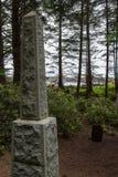 Memoriale norvegese sulla spiaggia di Kayostia Fotografie Stock