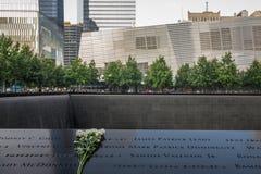 9-11 memoriale in NYC - ExplorationVacation rete Immagine Stock Libera da Diritti