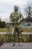 Memoriale sovietico di era WW2 in Bielorussia Immagine Stock