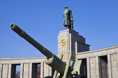 Memoriale sovietico di guerra a Berlino Immagini Stock Libere da Diritti