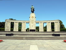 Memoriale sovietico di guerra a Berlino Immagine Stock Libera da Diritti