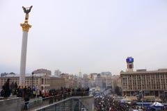 Memoriale ucraino di indipendenza il 19 gennaio 2013 Fotografia Stock