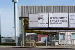 Memoriale, valico di frontiera del confine di Helmstedt-Marienborn ex RDT Fotografia Stock