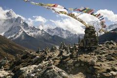Memoriali di Chukpilhara - Nepal Immagini Stock Libere da Diritti