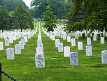 Memorials and headstones in Arlington National Cemetery in Virginia USA Stock Image