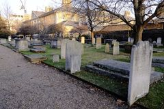 Chelsea Royal Hospital, Old Burial Ground,London,UK. Royalty Free Stock Images