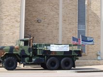 Memorials for Officer at Richardson Police Department. Dallas,USA,09February 2018. Richardson Police Officer Veteran David Sherrard,becomes the first officer to Stock Images