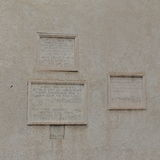 Memorials to the flooding of Tiber in Rome Royalty Free Stock Photography
