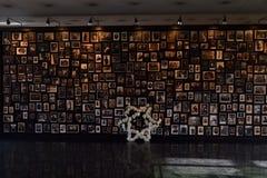 In memoriam av jews som dödas i Auschwitz Arkivfoton