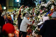 In memoriam de la muerte de rey Mihai de Rumania imagenes de archivo