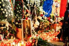 In memoriam de la muerte de rey Mihai de Rumania imágenes de archivo libres de regalías