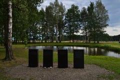Memoriam monument i Auschwitz-Birkenau Arkivbild