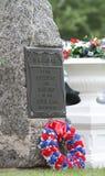 In Memoriam Stone Civil War. In Memoriam gravestone with Civil War plaque stock photo
