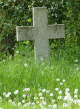 In Memoriam. Stone cross in the graveyard of St Bridgets Convent, Pirita, Tallinn stock images