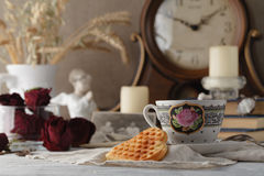 Memorias de la familia un té de la tarde Fotografía de archivo libre de regalías