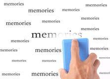 Memorias del borrado foto de archivo