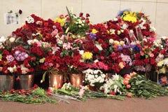 Memorias la víctima en los actos terroristas fotos de archivo