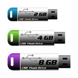 Memorias USB del Usb Foto de archivo