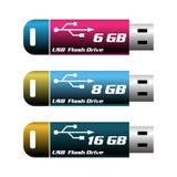 Memorias USB del Usb Imagen de archivo