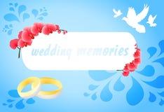 Memorie di nozze Immagine Stock