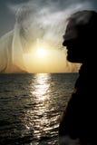 Memorie felici nel baciare delle nubi Fotografia Stock