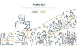 Memorie - linea insegna di stile di progettazione royalty illustrazione gratis