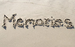 Memoriens on sand Stock Images