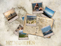 Memories. The holiday memories in summer photo and notebook royalty free stock photography