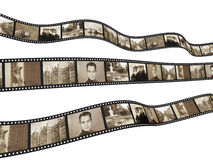 Memories. Retro photo with filmstrip. Isolated over white Royalty Free Stock Image