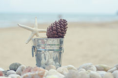 Memories from the sea for postcard or Poster Royalty Free Stock Photography