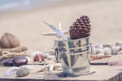 Memories from the sea for postcard or Poster Royalty Free Stock Image