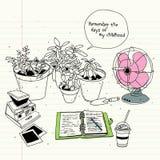 Memories of summer royalty free illustration