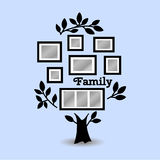 Memories tree with frames. Memories tree with picture frames. Insert your photo into template frames. Collage vector illustration Stock Photos