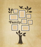 Memories tree with frames. Memories tree with picture frames. Insert your photo into template frames. Collage vector illustration Stock Photography