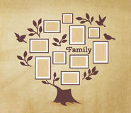 Memories tree with frames. Memories tree with picture frames. Insert your photo into template frames. Collage vector illustration Royalty Free Stock Image