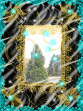 Memories. Window design light view lace Royalty Free Stock Image