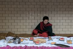 Memories of Xinjiang. In the Uighur areas at Xinjiang, people are always like dancing happily in the wedding ceremony. There is also a lot of food for people to Royalty Free Stock Photos
