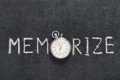 Memorize słowo zegarek obrazy royalty free