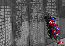In Memory. A memorial wall Stock Images